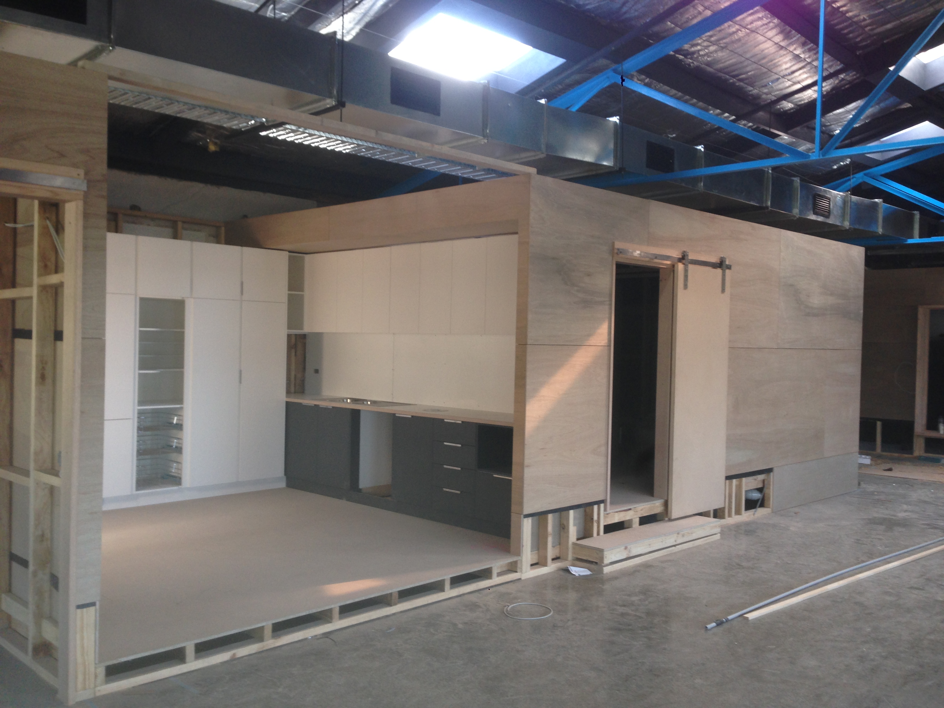 Caple Builders Birch Plywood Cladding Office Space