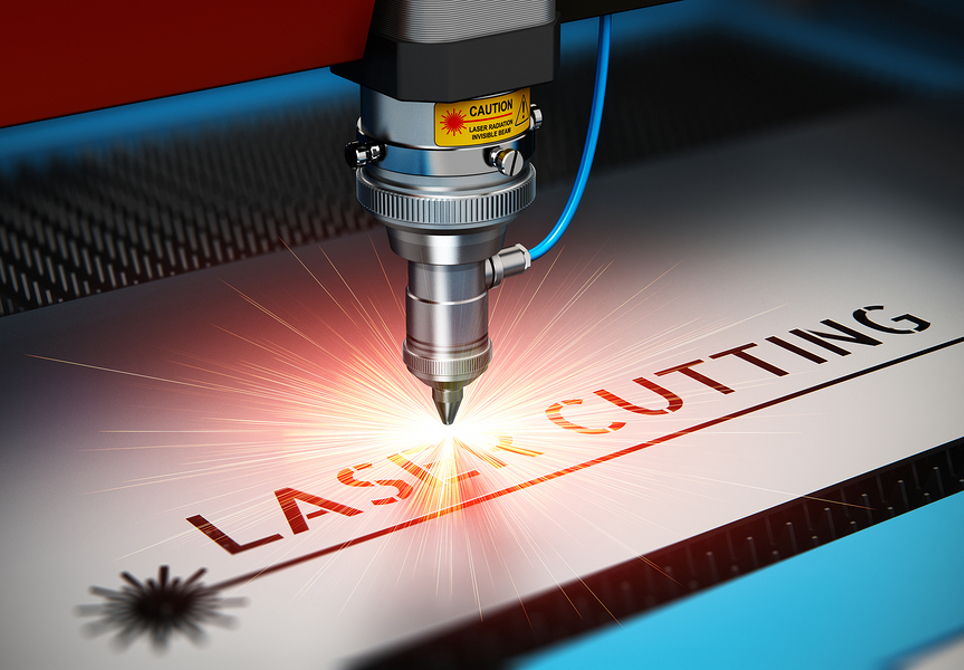 A Laser Cutter Engraving