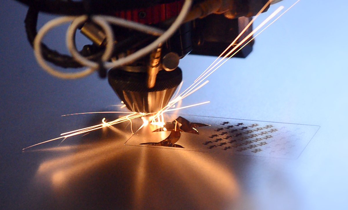 A Laser Cutting Machine in Action