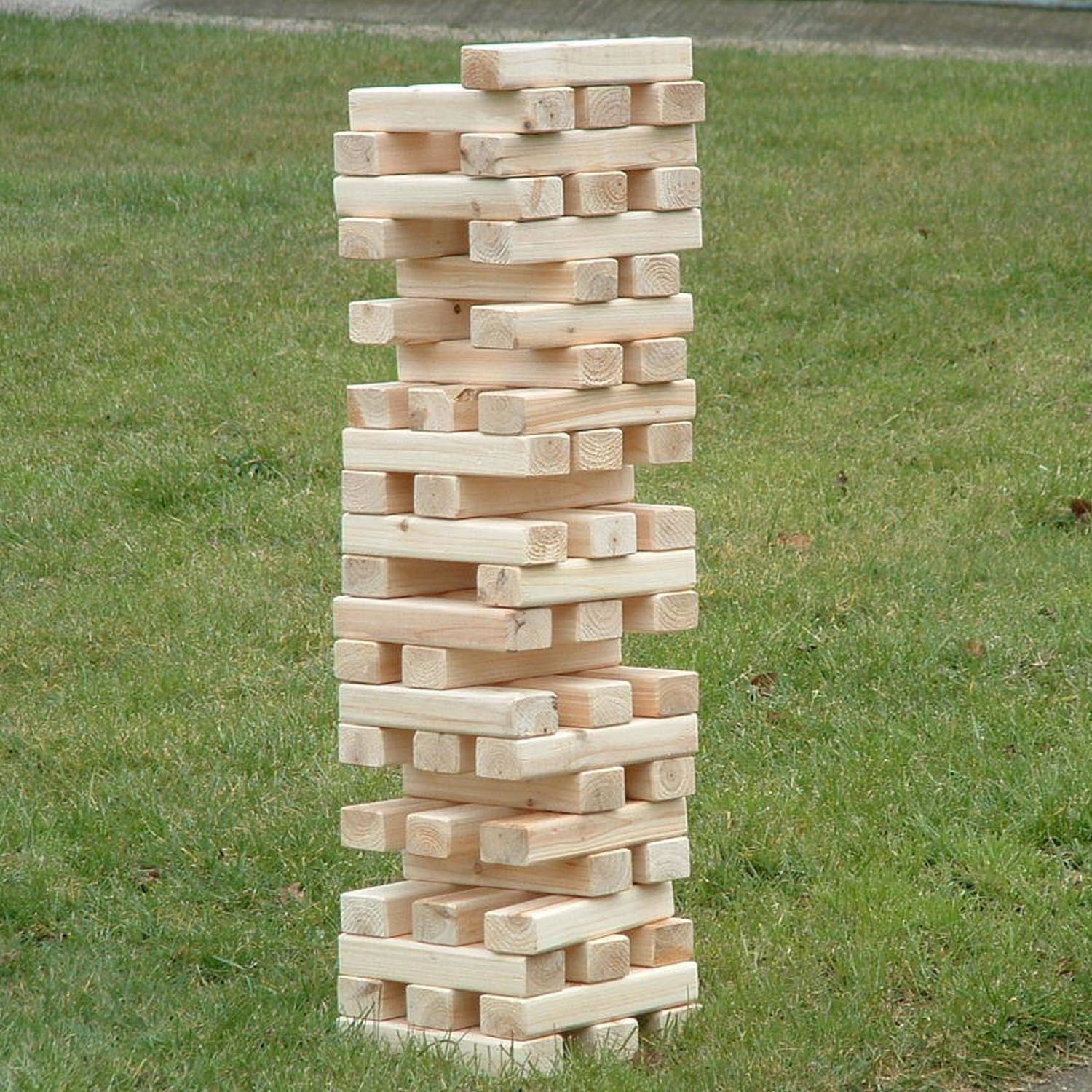 a giant jenga set made from plyco's poplar plywood