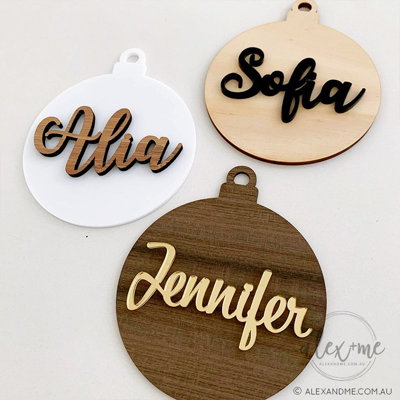 birch laser plywood christmas gift ornaments