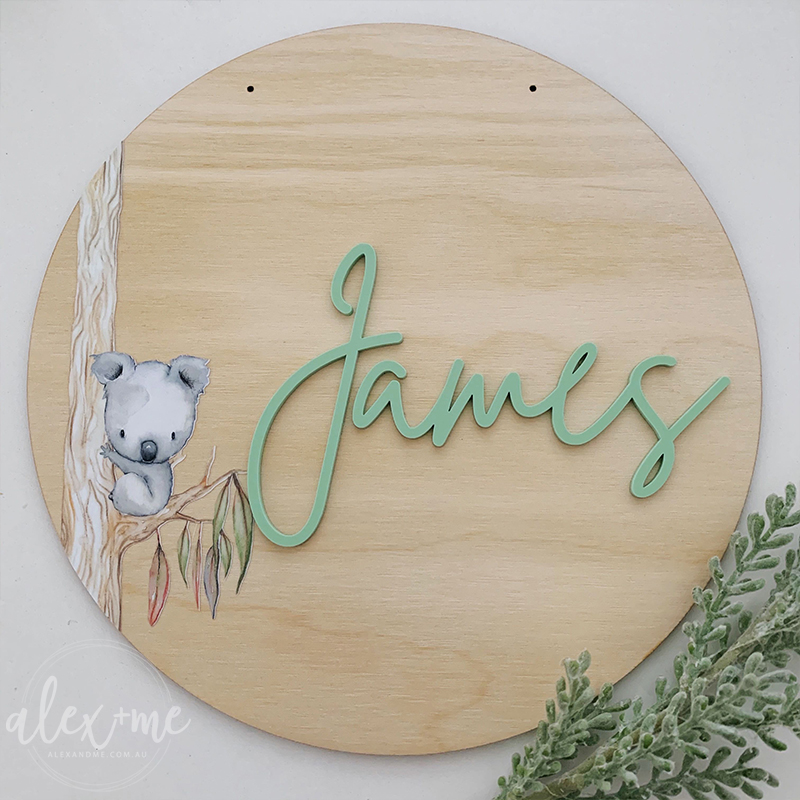 Laser Plywood Name Plaque
