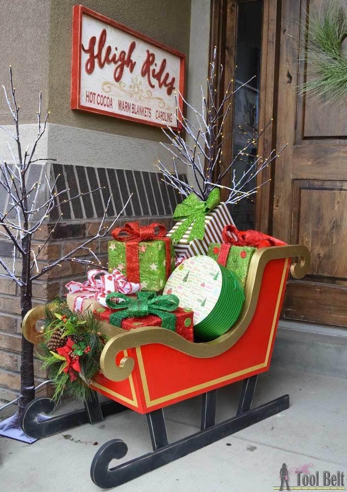 Plywood Santa's Sleigh