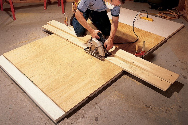 plywood cutting