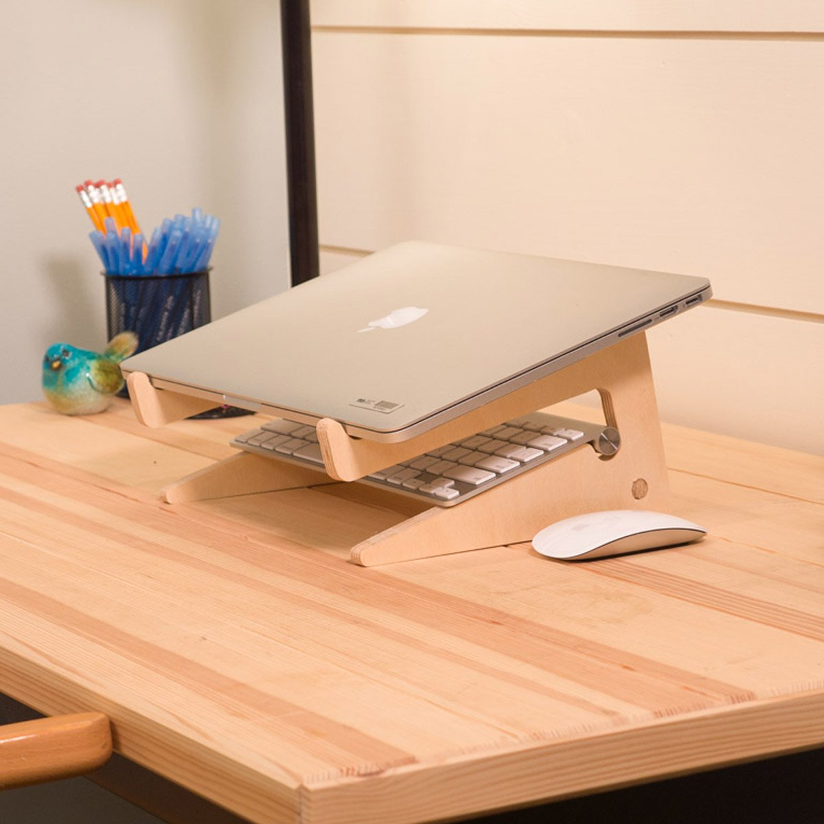 diy plywood laptop stand