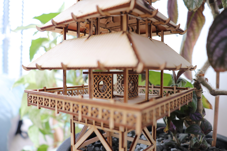 laser plywood treehouse